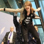 ECB President Mario Draghi attacked by protester